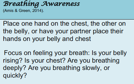 Breathing awareness